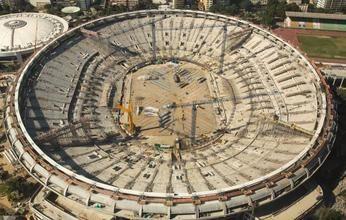 The Maracana stadium in Rio de Janeiro faces difficulties during its renovation