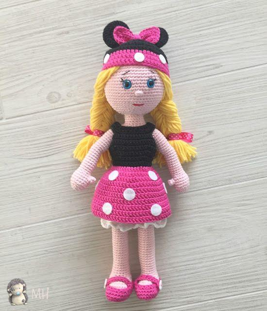 Muñeca Minnie amigurumi   AMIGURUMIS MUÑECAS Y PERSONAJES ...