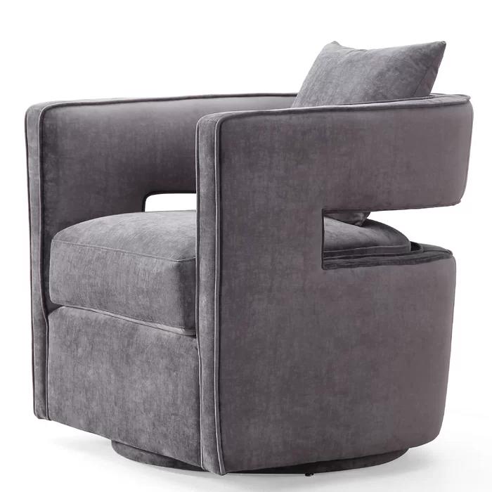 Beahm Swivel Barrel Chair in 2020 Swivel barrel chair