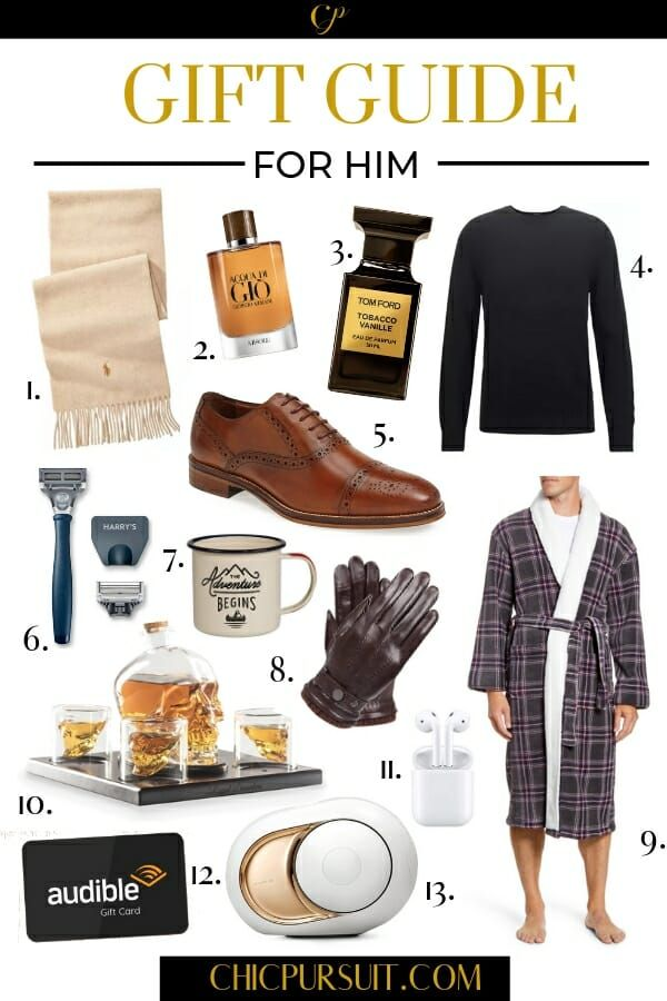 The Best Christmas Gift Ideas For Him - Get The Perfect Gift For Your Boyfriend, Brother Or Dad! | Christmas Gift Guide For Him | Use these gift guides to find the perfect gift for the tech lover, the outdoors guy, the luxury appreciator, or the boy on a budget. Whether you're looking for holiday gifts, Christmas gifts or birthday gifts, you'll find plenty of great ideas here! #christmasgiftideas #giftideas #giftguideforhim #christmasgiftguideforhim #giftsforboyfriends #giftsforhim #chicpursuit