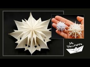 How to make mini paper bag stars and snowflakes - paper folding - christmas craft
