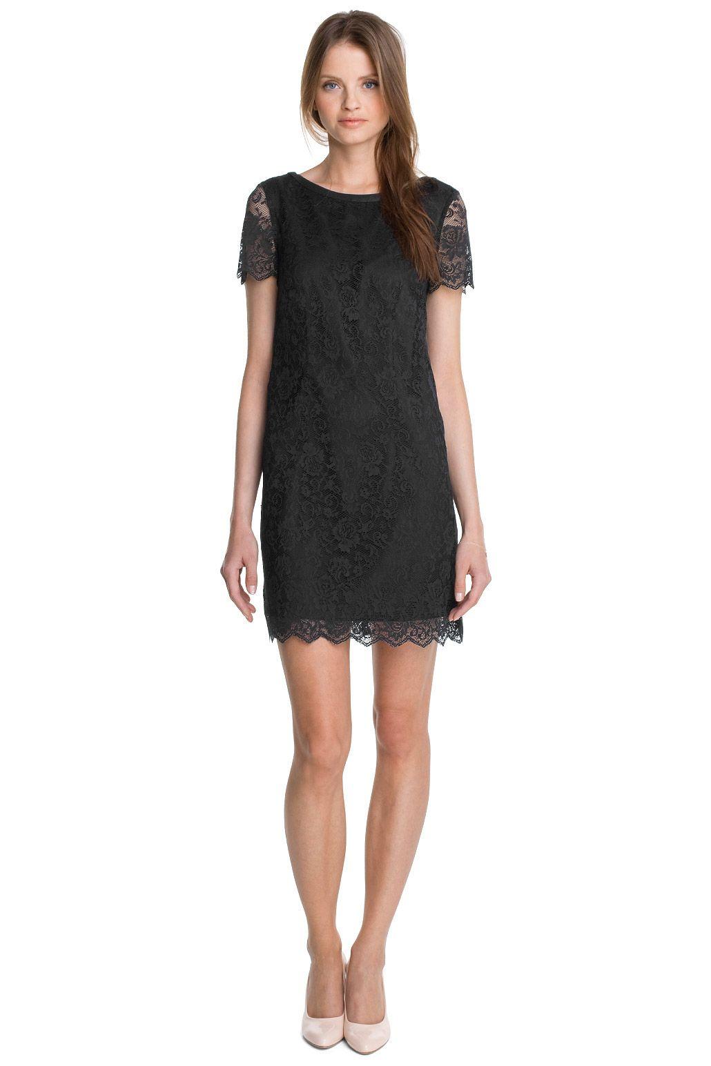 Esprit - Etui-Kleid aus Spitze  Kleid spitze, Outfit, Mode