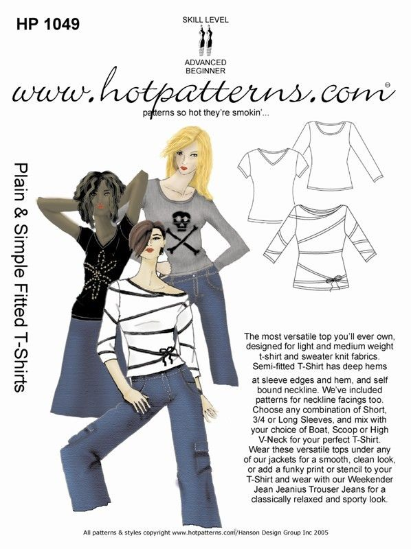 ...this was the original Plain & Simple Fitted T-shirts pattern...