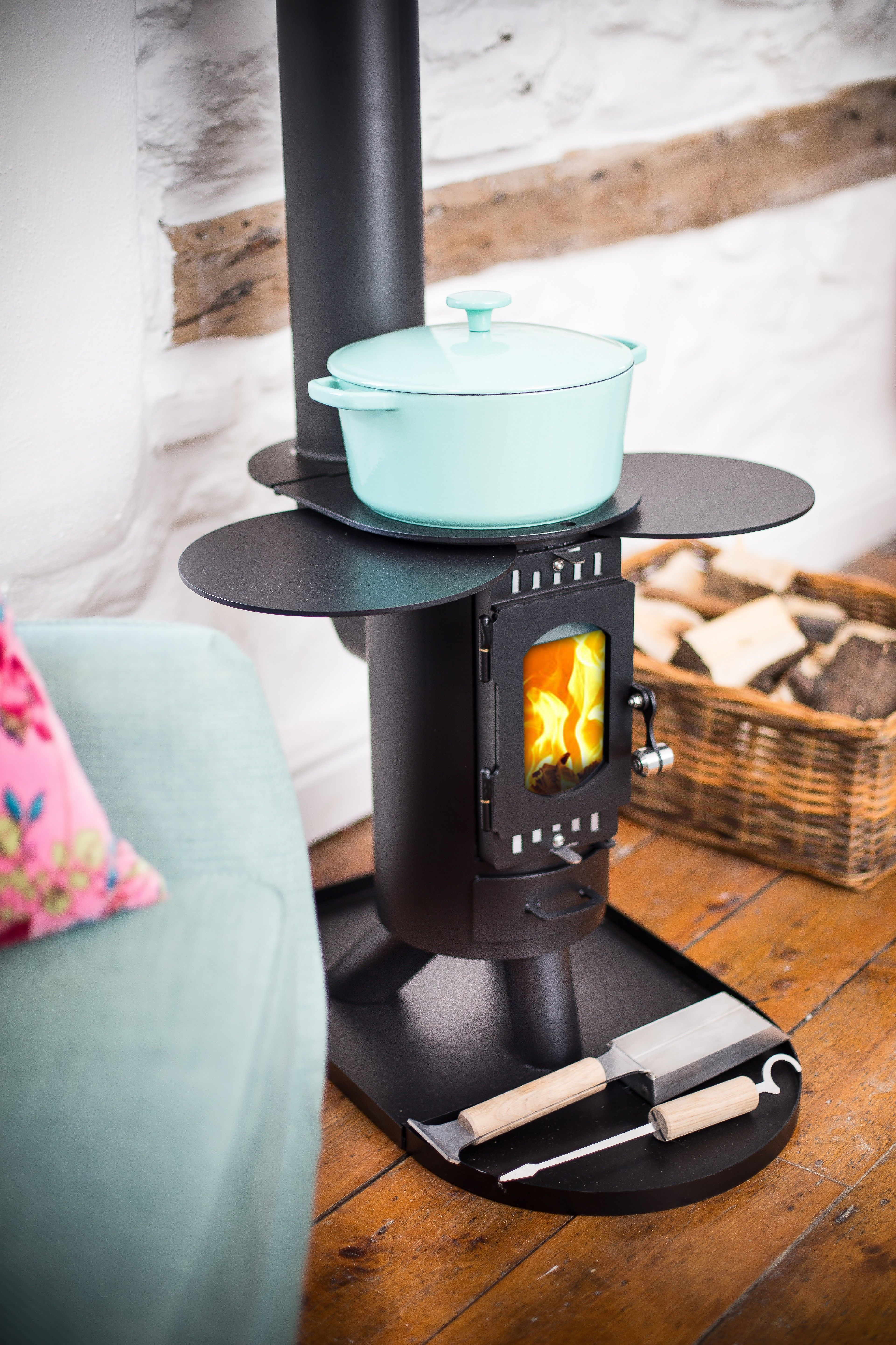 the fintan stove in satin black camping stoves outdoor stoves