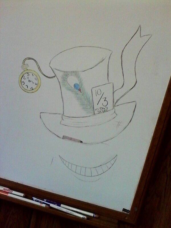 7460321a91f My Mad Hatter hat drawing