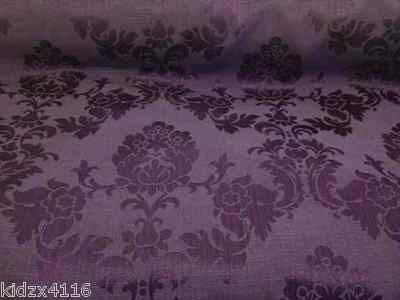 Raised Textured Floral Pattern Lilac Chenille Upholstery And Curtain Use Fabric