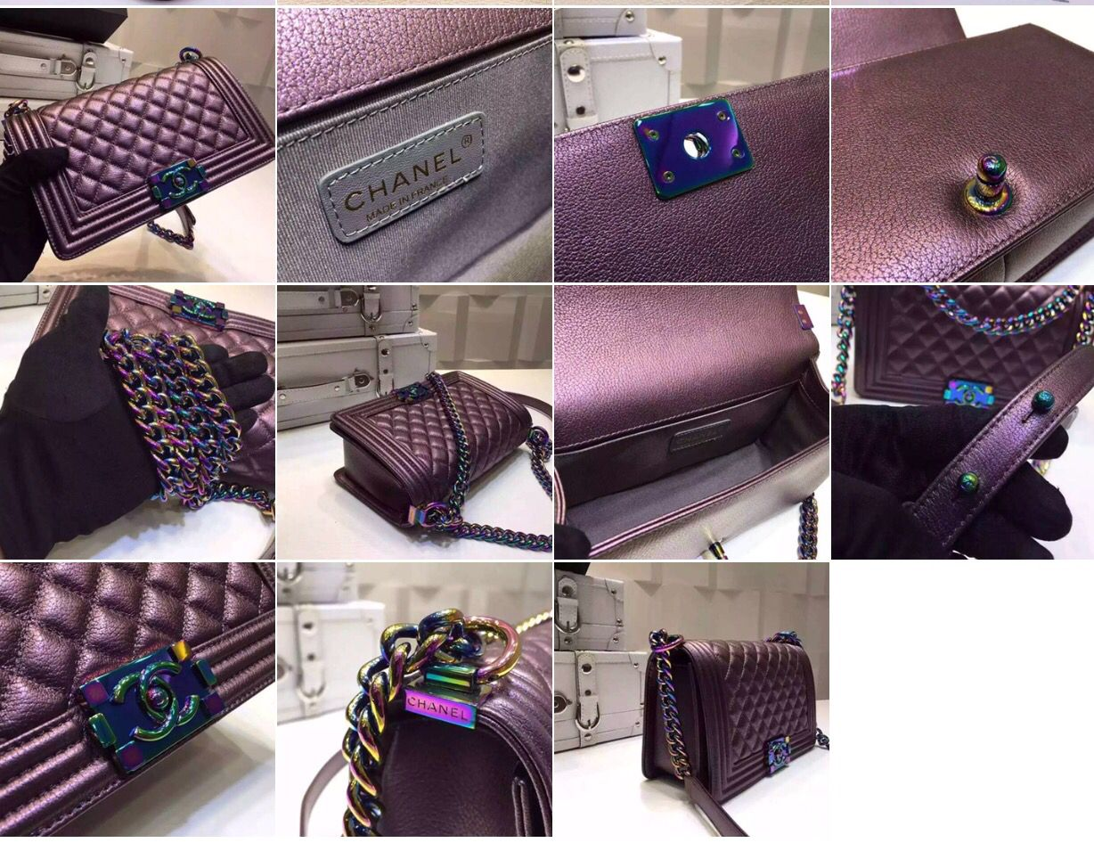 6722395cd8a8 Chanel Iridescent Small Rainbow Mermaid Le Boy Purple Cross Body Bag  $799.00 (VHTF)