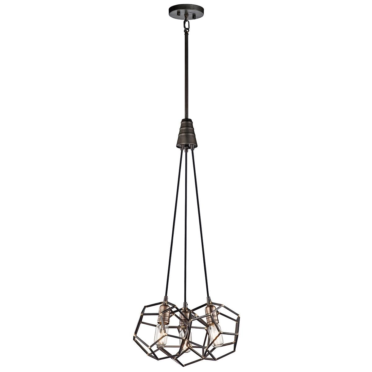 Small Steel Caged Chandelier