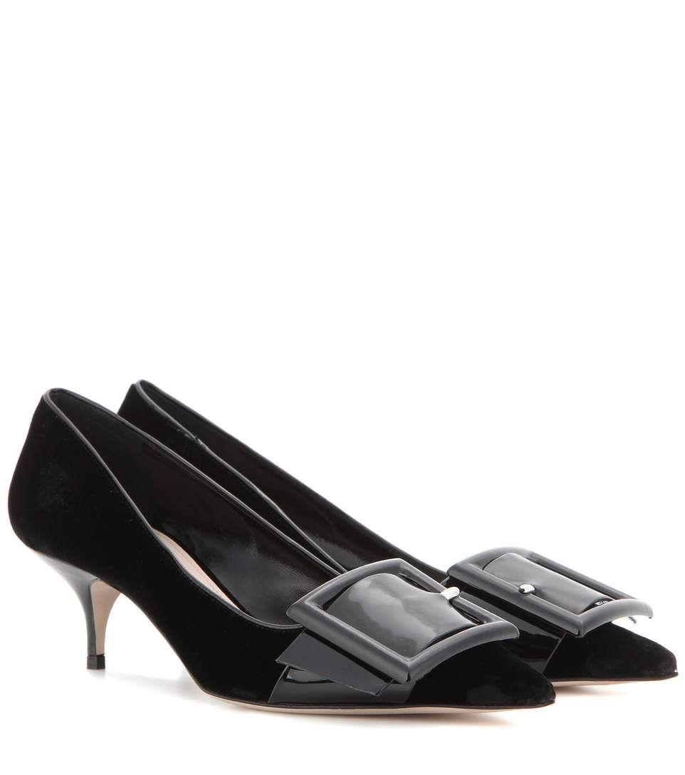 757112d832ee MIU MIU Velvet Kitten-Heel Pumps. #miumiu #shoes #pumps | Miu Miu ...