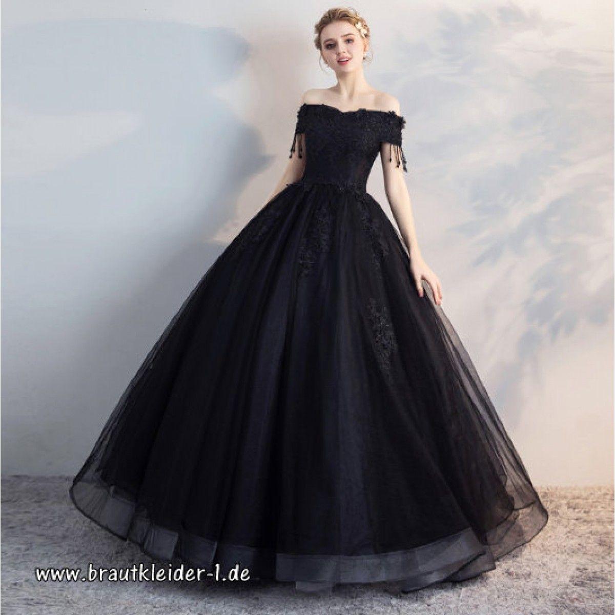 Schwarzes Schulterfreies Brautkleid Online  Ballkleid, Abendkleid