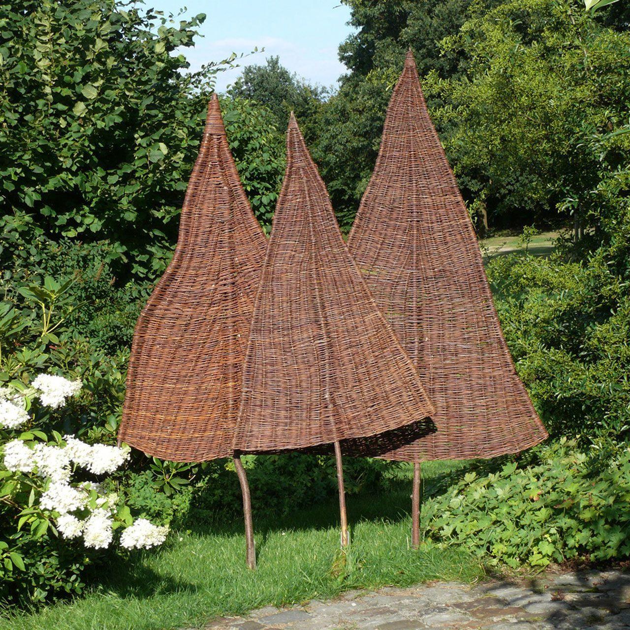 SichtschutzWeidenbaum Tanne, natur bambussichtschutz