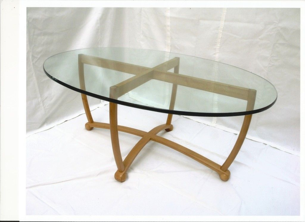 Oval Glass Table Top Replacement Oval Glass Top Coffee Table