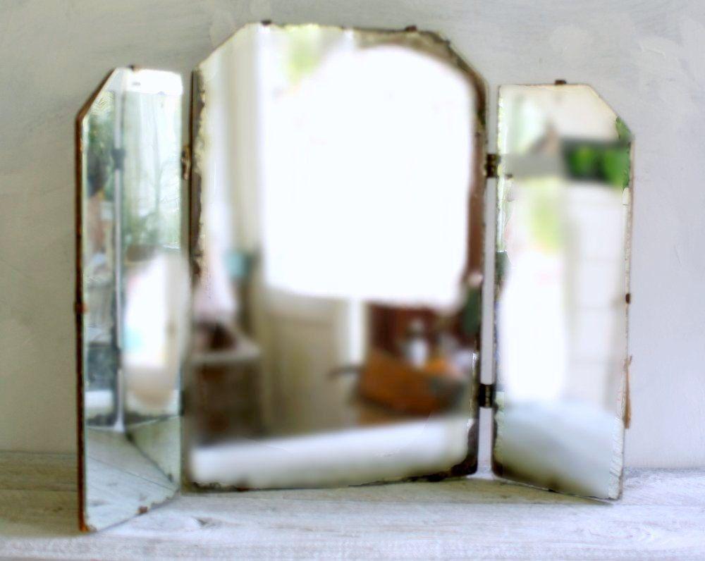 Vintage Minimalist Tri-fold Vanity Mirror | Tri fold, Minimalist and ...