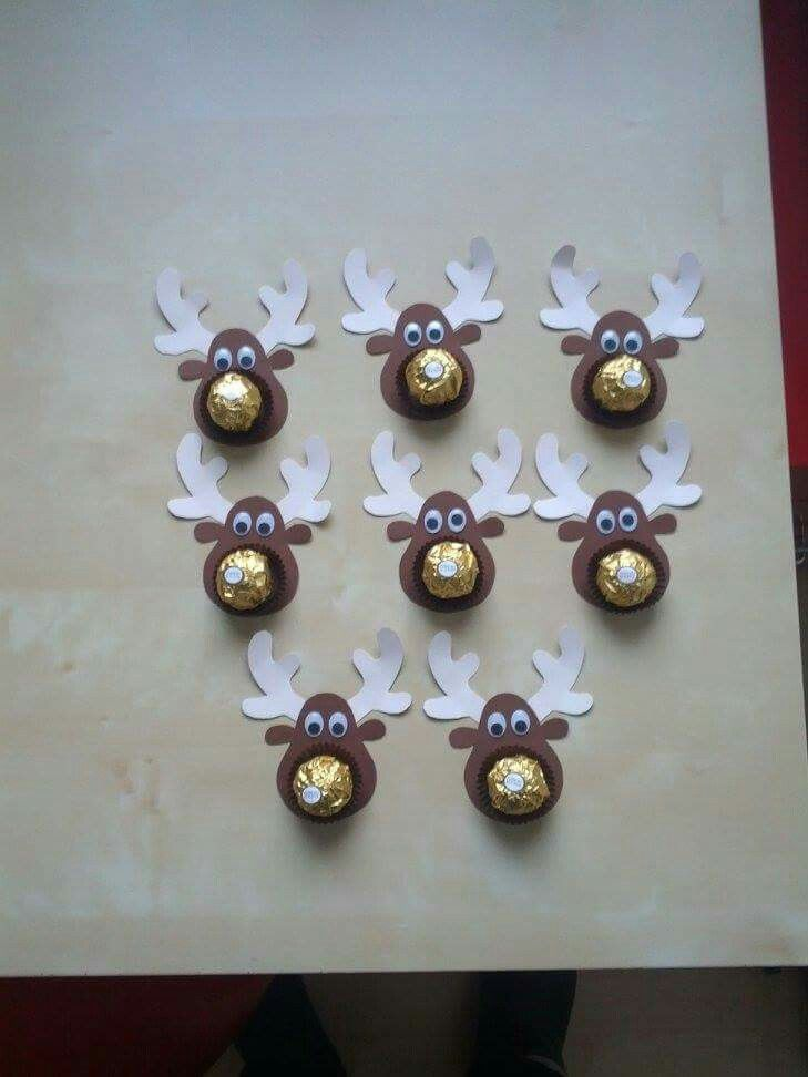 Elch Ferrero #bastelideenweihnachten