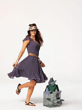 Schnittmuster: Glockenrock-Kleid - Mini-Flugärmel - Kleider ...