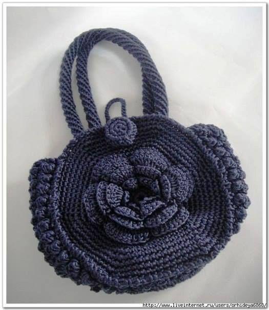 tığ işi yuvarlak çanta, çiçekli tığ işi çanta , çanta yapılışı ...