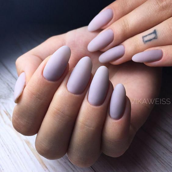 44 Stylish Oval Matte Nail Art Designs - Nails - #art #Designs #Matte #Nail #Nails #oval #Stylish #mattenails