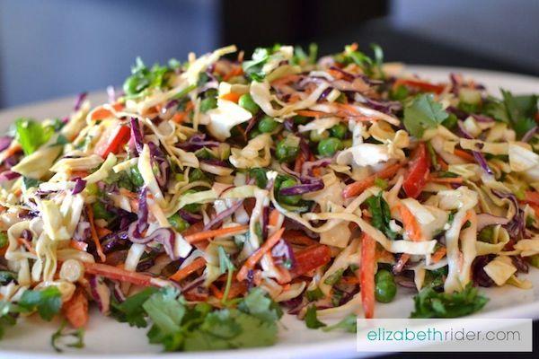 Thai Peanut Superfood Slaw Recipe - ElizabethRider.com