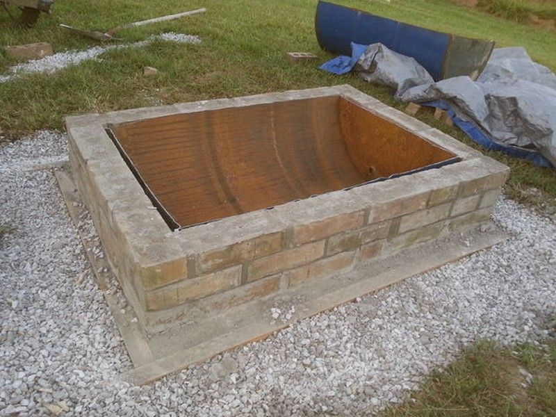 Image result for square brick fire pit home pinterest for How do i build a fire pit