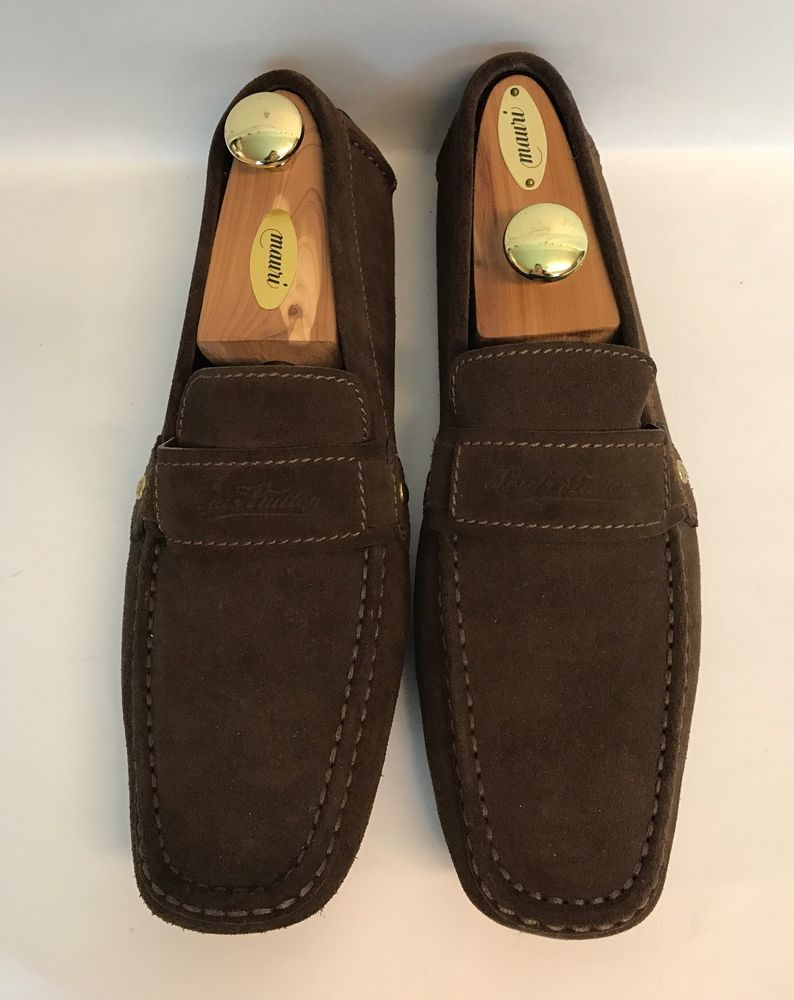 51618a2d518a Louis Vuitton Brown Suede Dress Shoes Men Sz 11 N Leather Made in Italy  Loafers  LouisVuitton  LoafersSlipOns  Dress