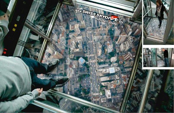 Elevator Advertisements | Creative Greed