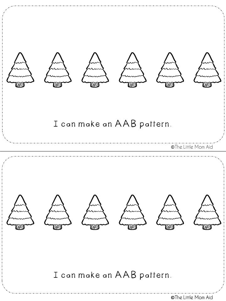 Preschool and Kindergarten Winter Patterns Activity Book