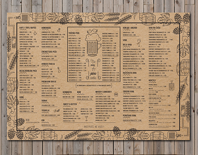 Check Out New Work On My Behance Portfolio Drink And Food Menu For Beerhouse Savska Pivnica Http Be Net Gallery 48224651 Drink And Food Menu Menu Food