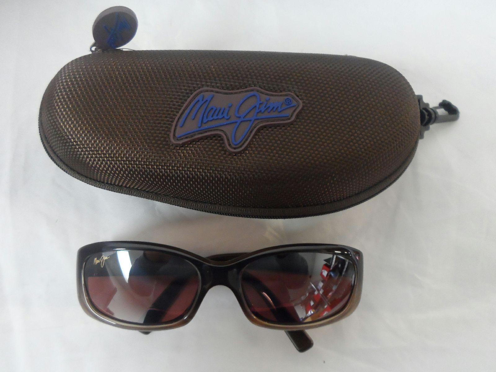 awesome Maui Jim Women's Punchbowl Chocolate Fade Frame Maui Rose Lens  Sunglasses