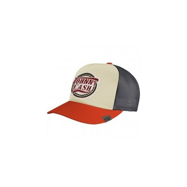 Trucker Cap JOHNNY CASH ( 20) ❤ liked on Polyvore featuring accessories 17424cc805e