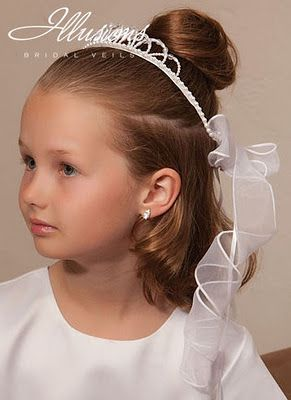 Peinados con cabello corto para primera comunion - Peinados sencillos para comunion ...