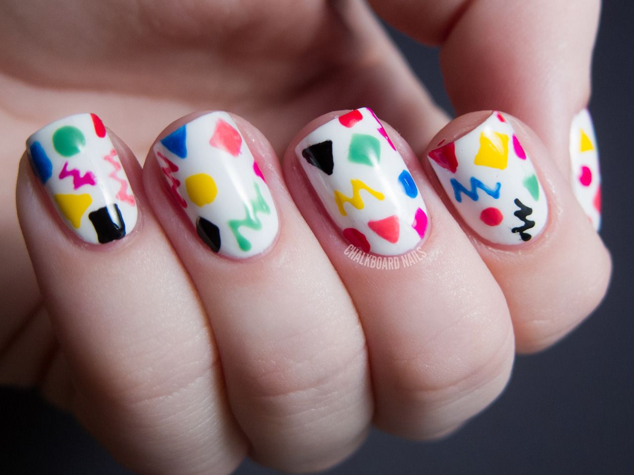 This nail art is adorable. Maybe my daughter and I will get matching ...