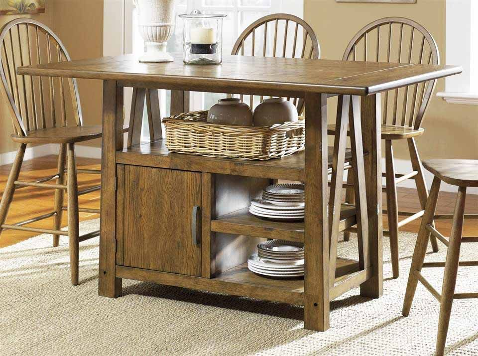 High Kitchen Table With Storage