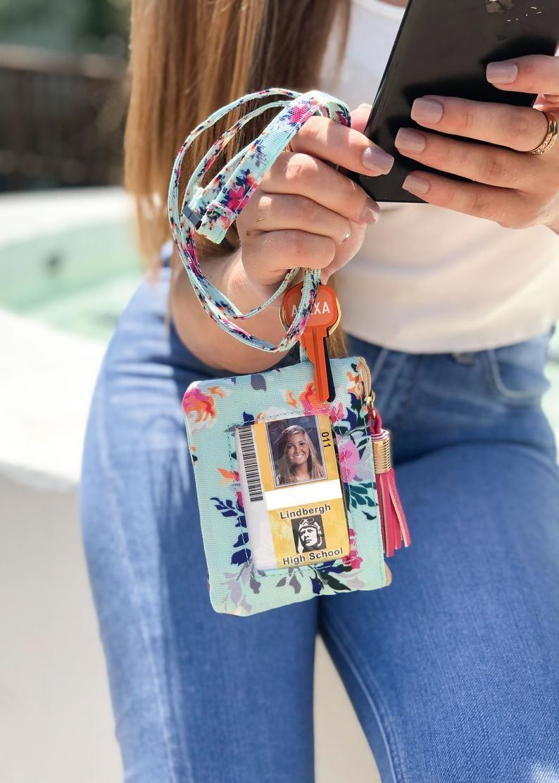 Gift for Teens ID Badge Holder Keychain Wristlet Sweet 16