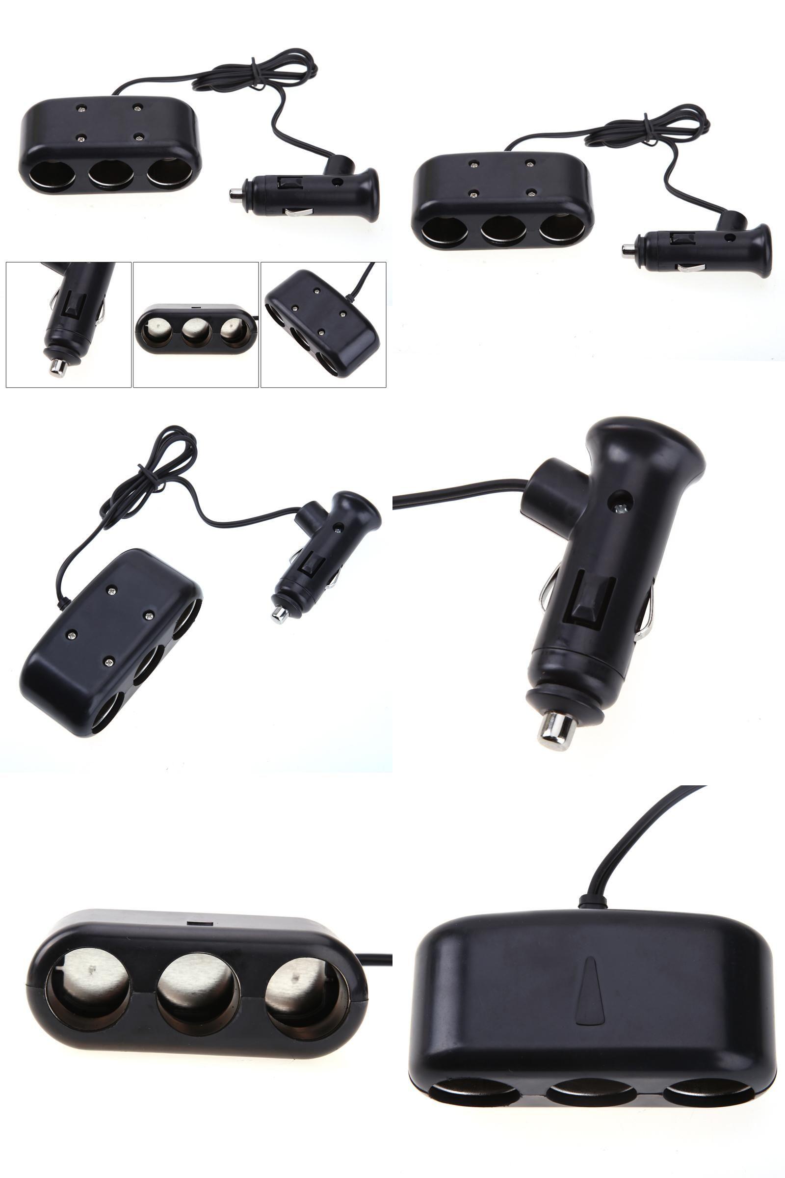 Visit To Buy 3 Ways Triple Car Universal Cigarette Lighter Socket Best New 12v 120w Power Outlet Plug Under 6 Splitter