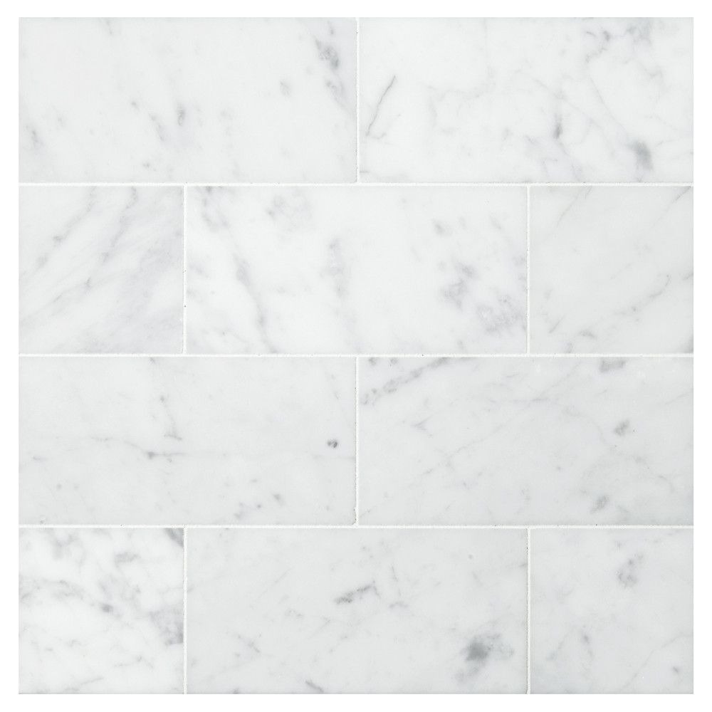 Carrara marble tile white color httpflooringideacktobosnia natural stone marble tile carrara honed finish subway tile x the elegance of natural stone combined with the perfect proportion of the 3 x 6 subway tile dailygadgetfo Choice Image