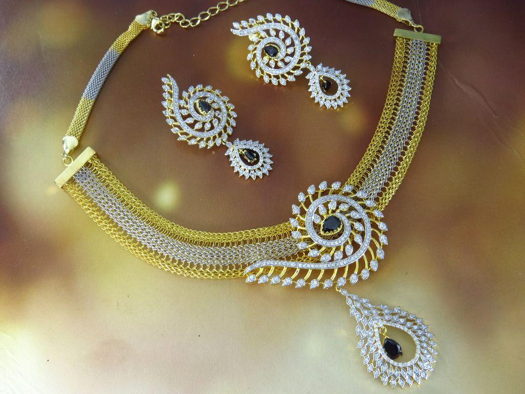 Lovely American Diamond Jewellery Designs With Price Photos ...