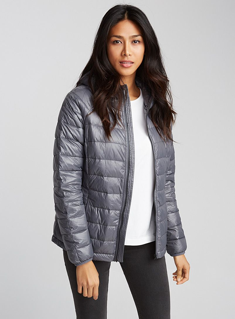 Lightweight Down Cropped Puffer Jacket Contemporaine Shop Women S Quilted And Down Coats Simons Quilted Coat Women Jackets Women