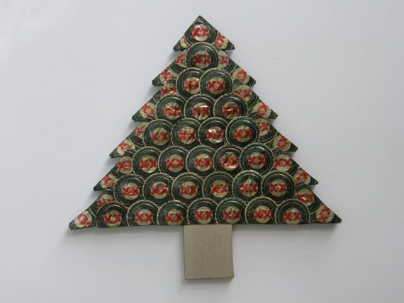 Christmas Tree With Dos Equis Beer Bottle By Erinsbottlecapart