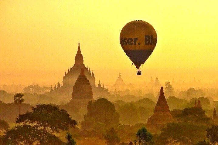 Hot air balloon trip over the Burmese province of Bagan