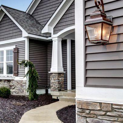 Craftsman Pillars Design House Exterior Exterior House Colors House Colors