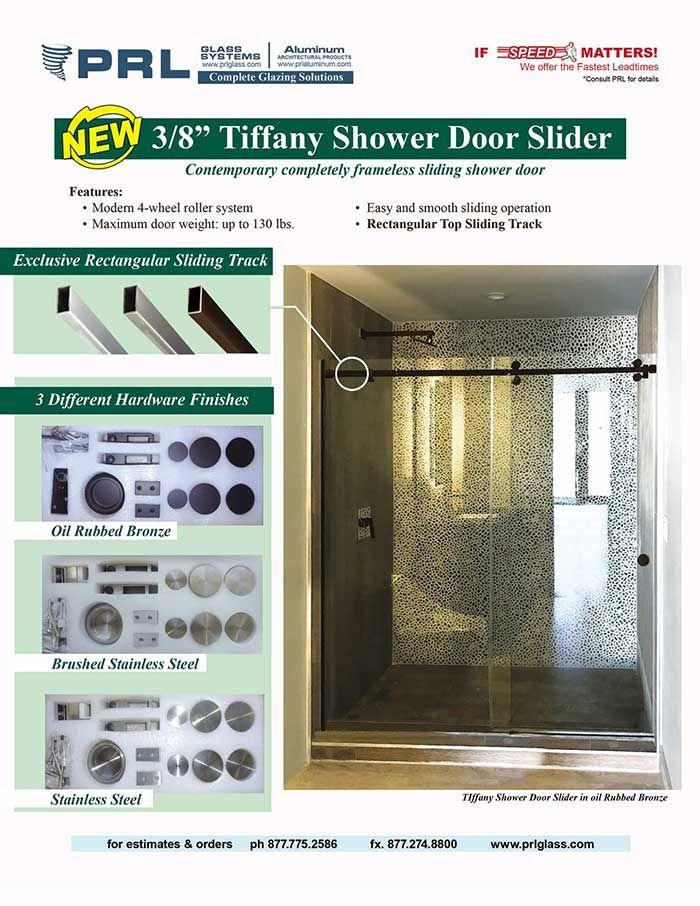 Prl S New Tiffany Shower Door Slider A Visionary Sliding Shower