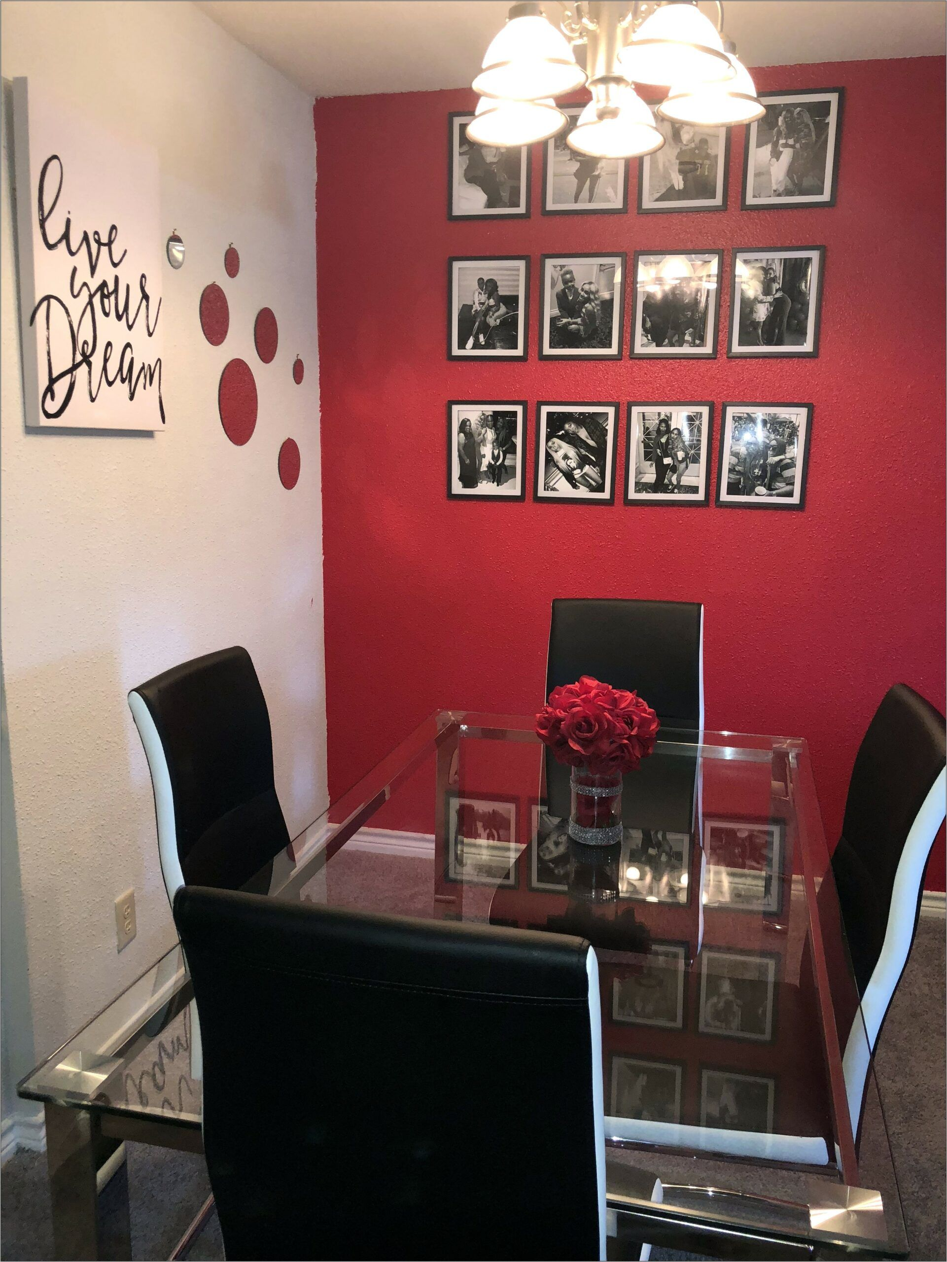 Black And Red Dining Room Ideas In 2020 Black Living Room D