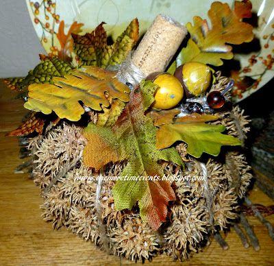 Spiky Ball Pumpkin Sweet Gum Fall Thanksgiving Thanksgiving Decorations
