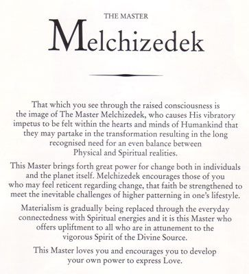 Melchizedek | ASCENDED MASTERS ☀️ | Ascended masters