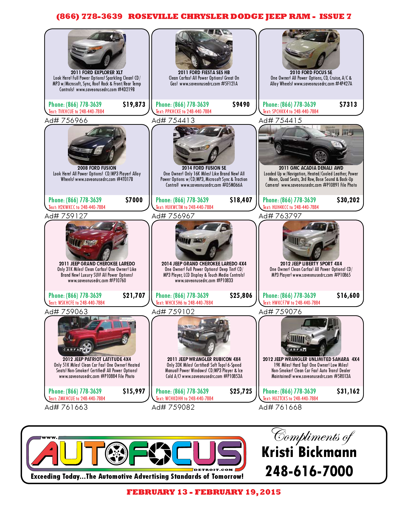 Check Out Our Used Car Sale Going On Until Feb 19!