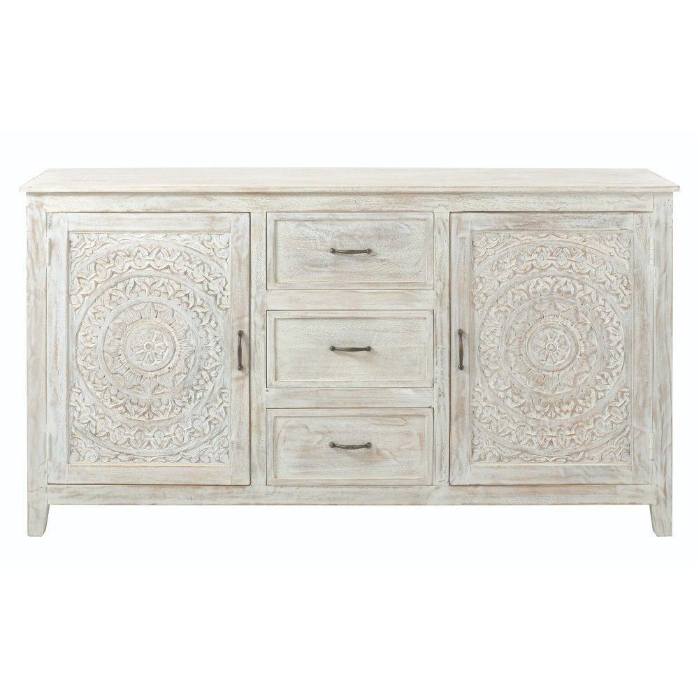 Home Decorators Collection Chennai 3 Drawer White Wash Dresser 9468000410 The Home Depot White Wash Dresser Bobs Furniture Furniture