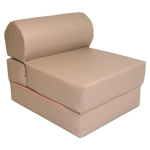 Elite's Adult Studio Foam TriFold Foldable Multifunctional Jr Twin Size Poly Cotton Sand Chair Sleeper