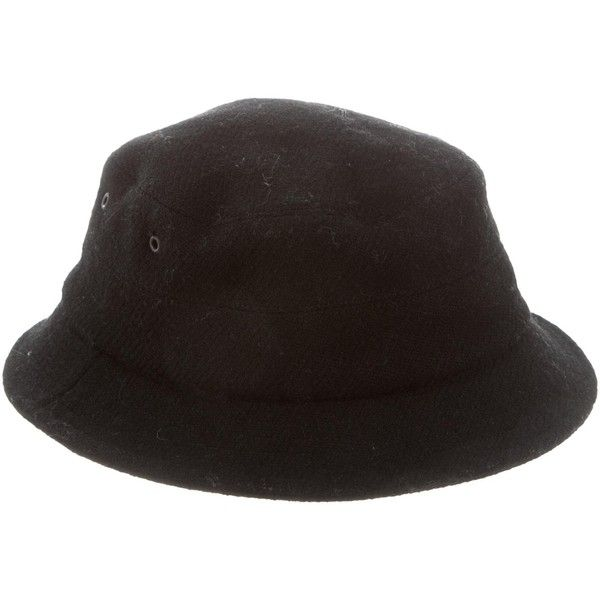 Pre-owned Burberry London Wool Bucket Hat ( 85) ❤ liked on Polyvore  featuring 7cce9114b416