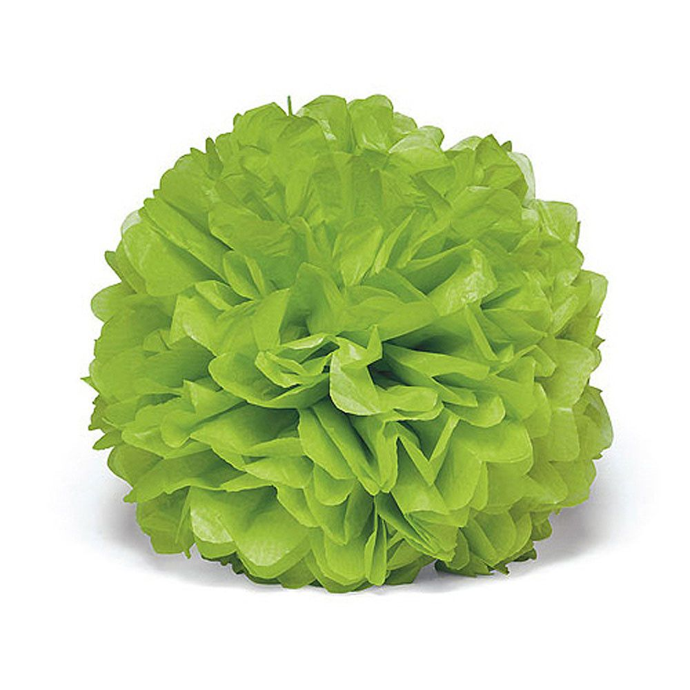 Celebration Peonies Tissue Paper Flowers Large Candy Apple Green 3