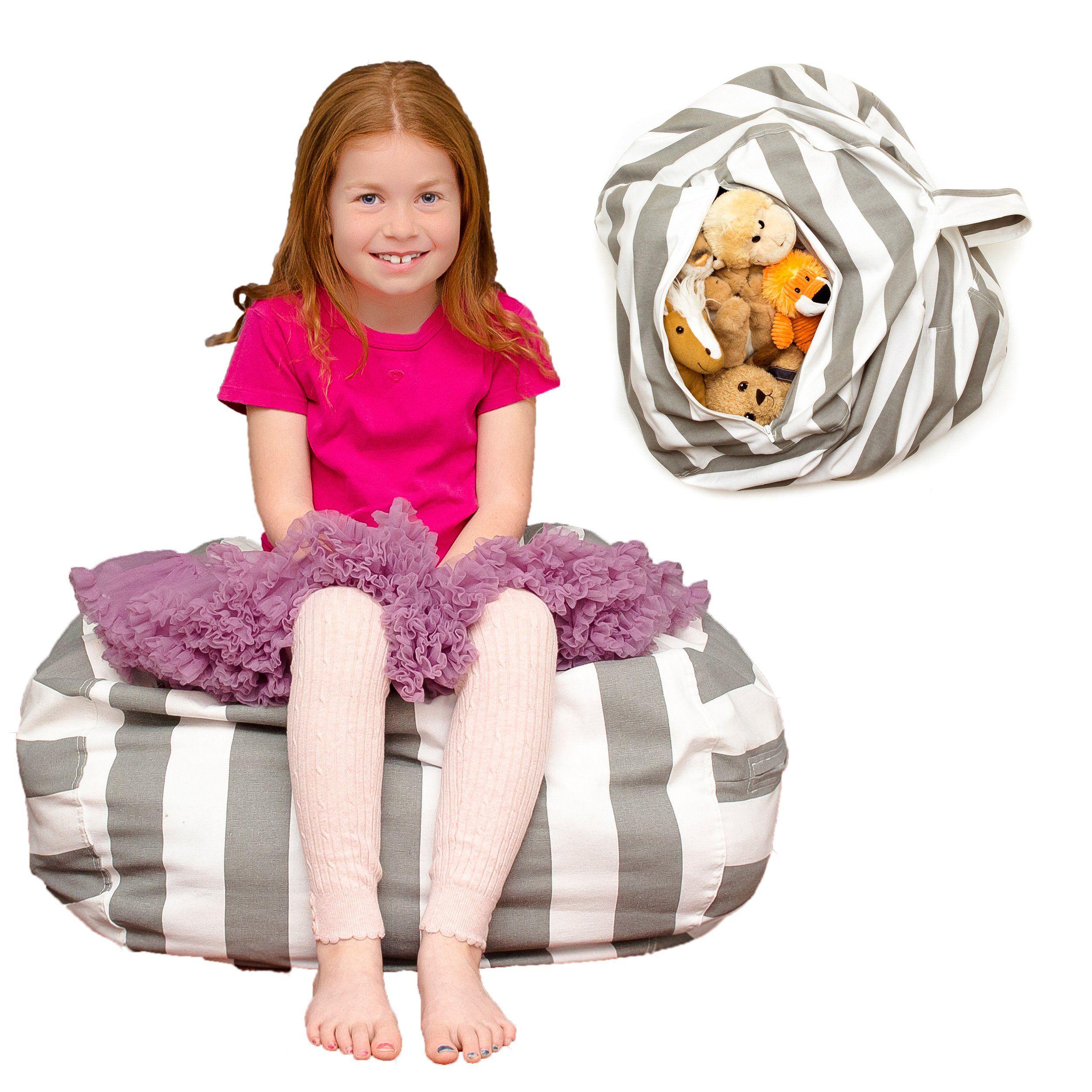 Lonnadi Toy Storage Bean Bag Large Stuffed Animal Storage Bean Bag Chair Multipurpose Home Storage Solution Rea Kids Furniture Toy Storage Kids Furniture